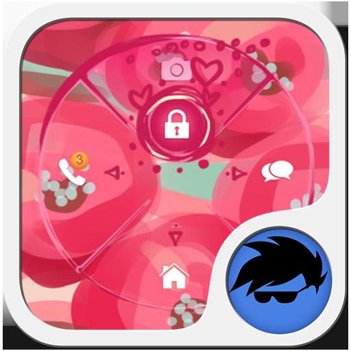 粉紅色的花朵GO鎖屏 LOGO-APP點子