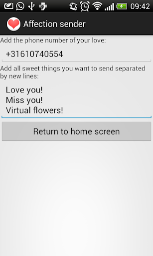 Affection sender