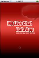 Screenshot of My Live Chat Data App