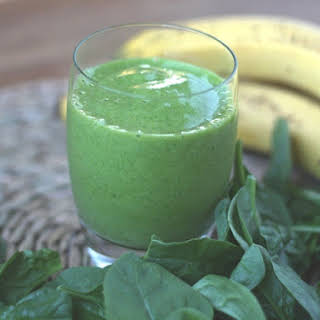 Simple Banana Spinach Smoothie.