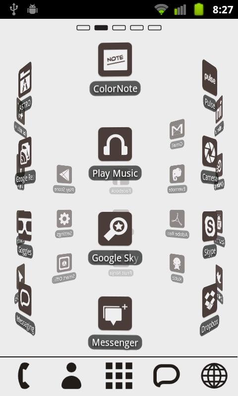 Clean Theme Go Launcher EX - screenshot