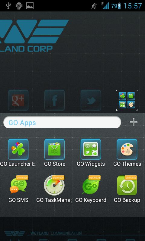 Weyland GO Launcher EX theme - screenshot
