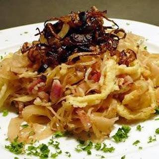Spaetzle with Sauerkraut
