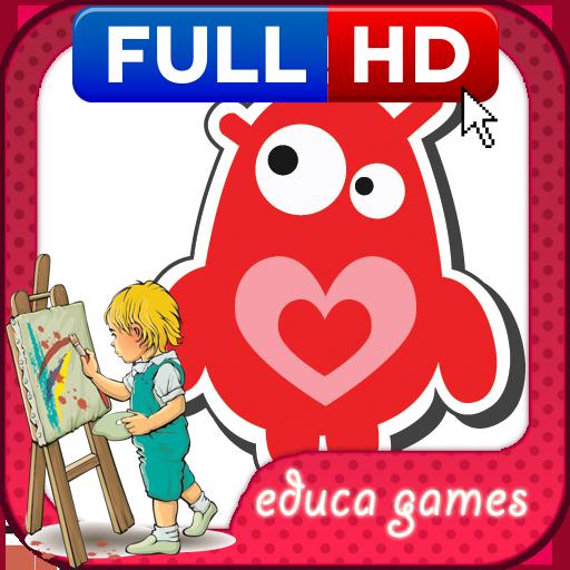 教育の着色ゲーム:かわいいモンスター LOGO-HotApp4Game