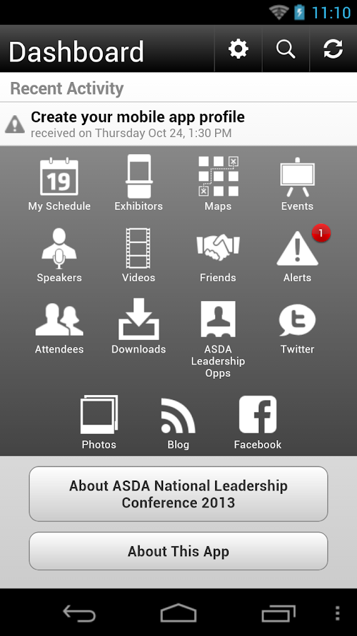 ASDA National Leadership 2013 - screenshot