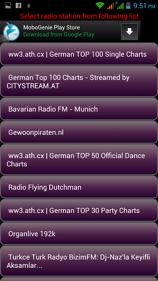 German Internet Radios - screenshot