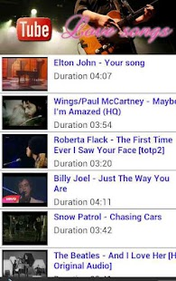 All Time Love Song on Tube - screenshot thumbnail