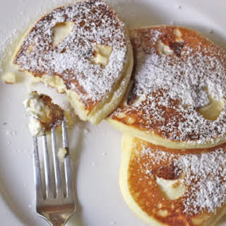 Gluten-Free Cream Cheese Pancakes.