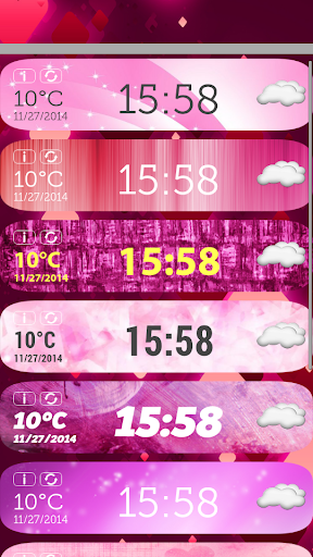 無料天气Appのピンク 時計天気ウィジェット 記事Game