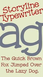Storyline Typewriter FlipFont- screenshot thumbnail
