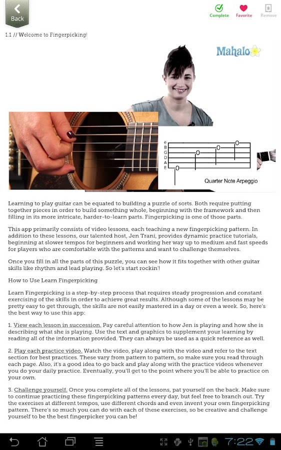 Learn Fingerpicking - screenshot