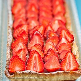 Strawberry, Rhubarby & Ricotta Tart.