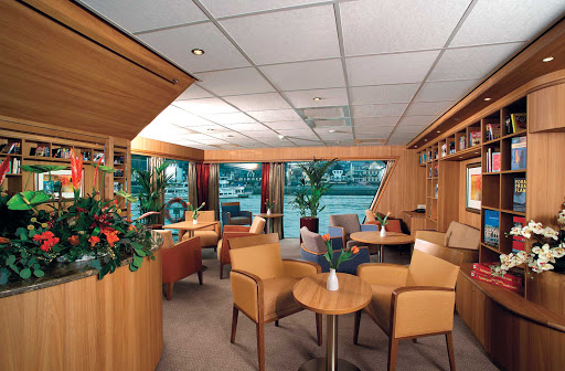 Viking-River-Cruises-Library - Curl up with a book in the library on Viking Helvetia.