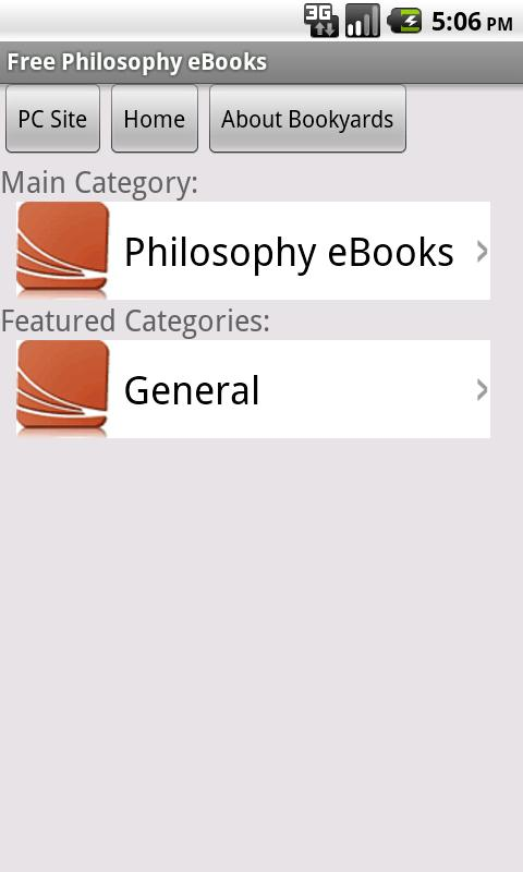 Philosophy eBooks - screenshot