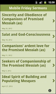 Mobile Friday Sermons - screenshot thumbnail