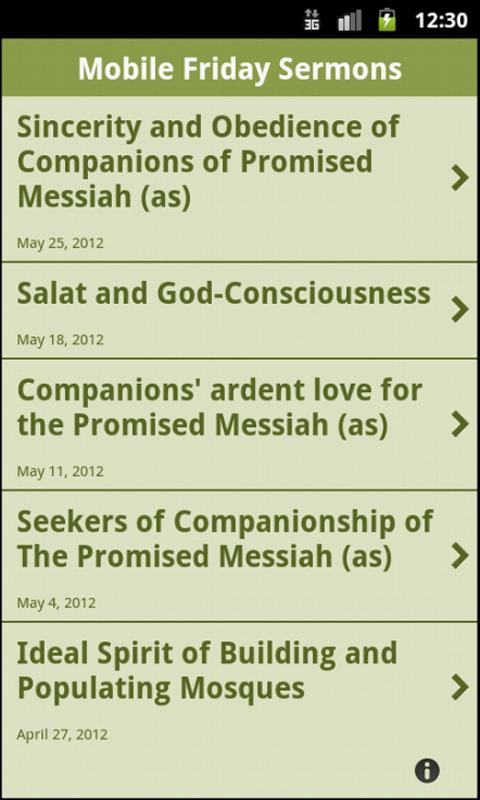 Mobile Friday Sermons - screenshot
