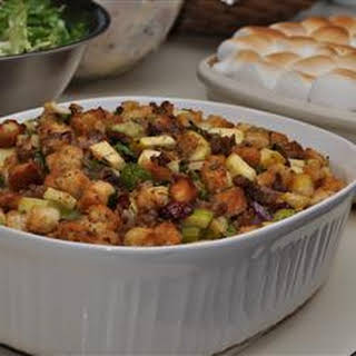 Cranberry, Sausage, and Apple Stuffing.