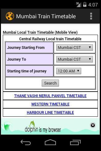 Mumbai Train Timetable