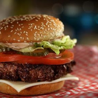 Griddle Burger with 18000 Island Dressing and Quick Pickles Recipe