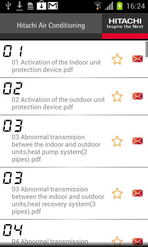 Hitachi Aircon Alarms- screenshot