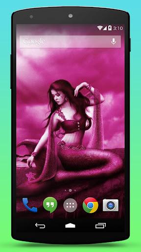 Pink Mermaid Live Wallpaper