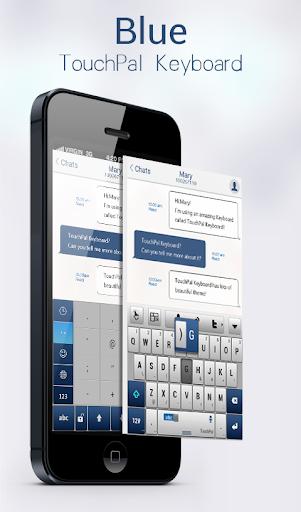 Blue TouchPal Emoji Keyboard