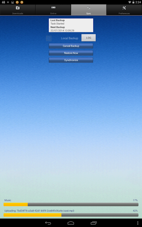 CloudIUS- screenshot