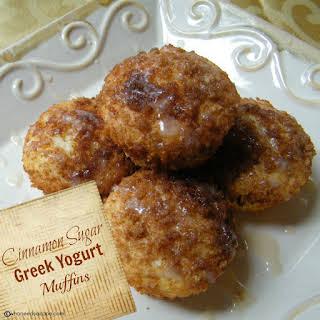 Cinnamon Sugar Greek Yogurt Muffins.