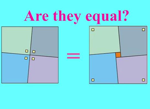Paradox with square area