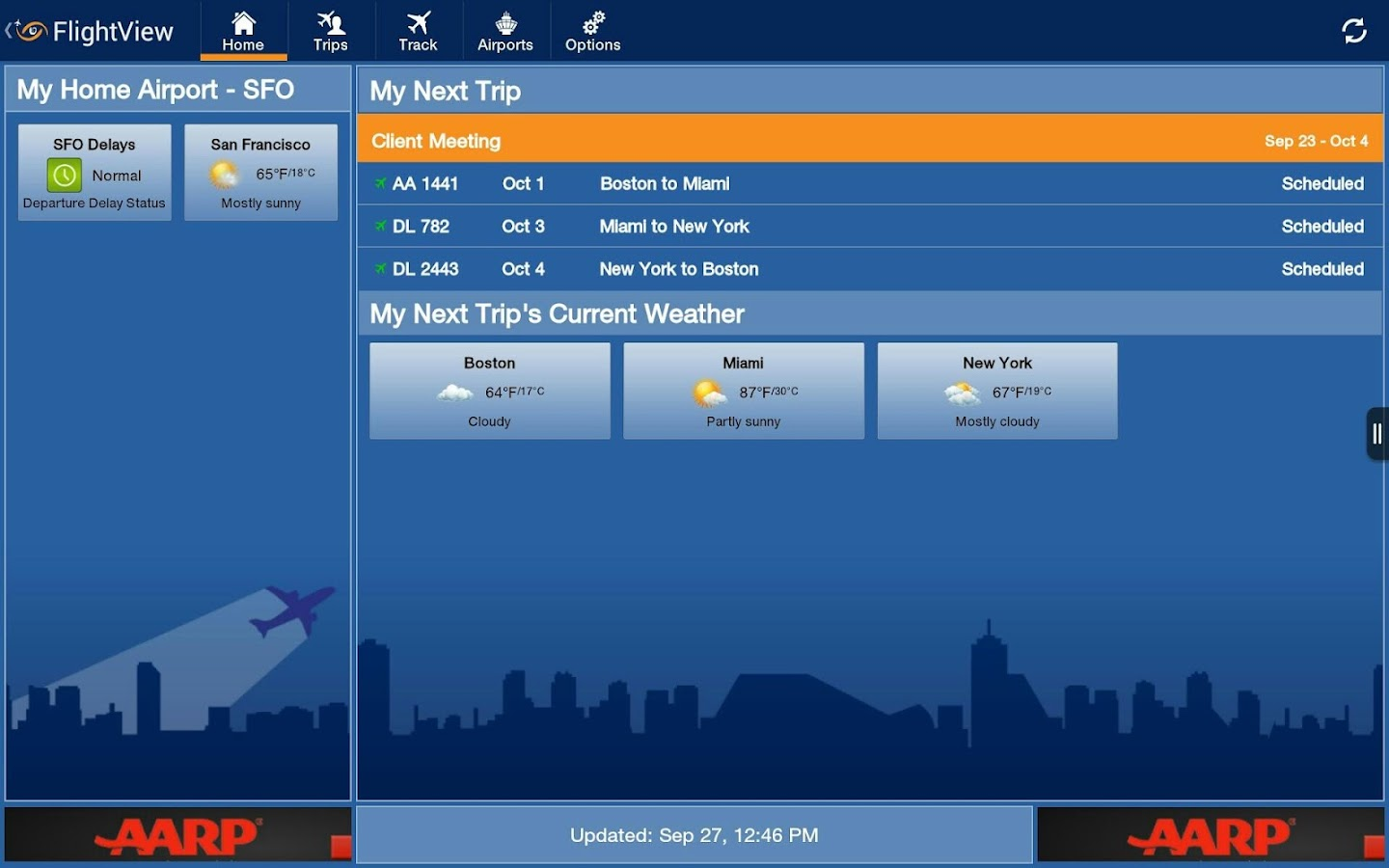 FlightView Free Flight Tracker - screenshot