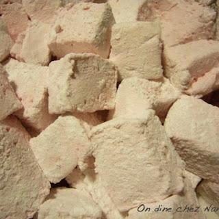 Fluffy Strawberry Marshmallows.