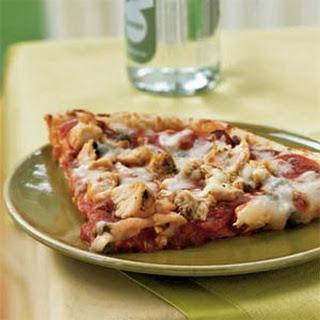 Chicken Puttanesca Pizza.