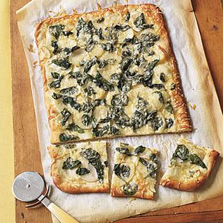 Spinach and Potato Pizza.