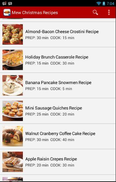 Christmas and New Year Recipes - screenshot