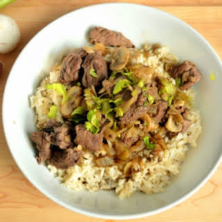 Beef Tips with Mushrooms.