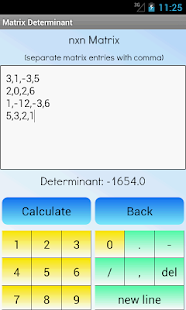 Matrix Determinant Calculator - screenshot thumbnail