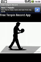 Screenshot of Free Tenpin Record Application