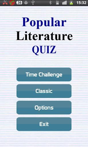 Popular Literature Quiz