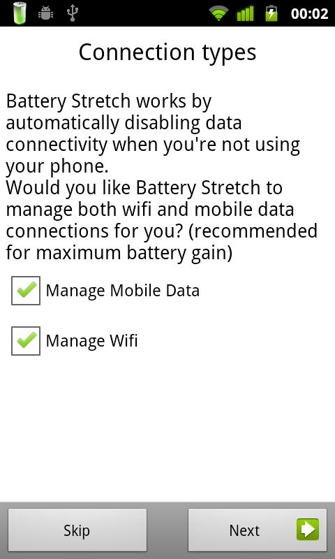 Battery Stretch - screenshot