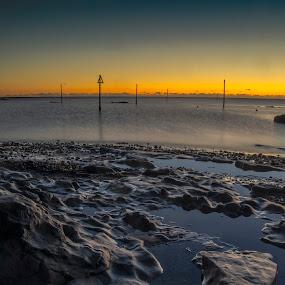 Sunrise Westhaven by Ben Leng - Landscapes Sunsets & Sunrises ( scotland, north sea, carnoustie, serene, harbour, sea, sunrise, beach )