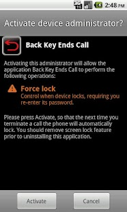 Back Key End Call - screenshot thumbnail