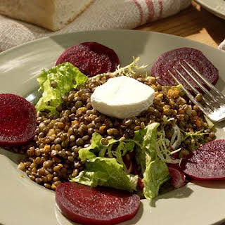 Lentil Salad with Beets.