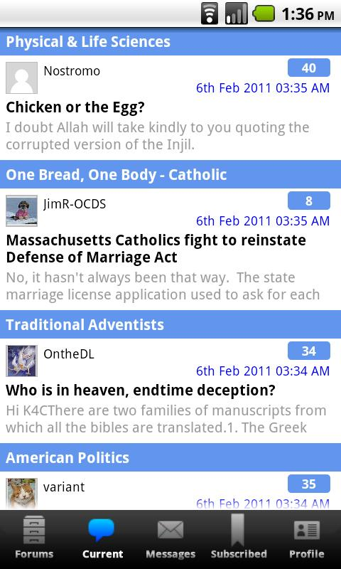 Christian Forums- screenshot