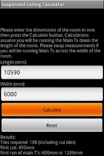 Suspended Ceiling Calc Lite - screenshot thumbnail