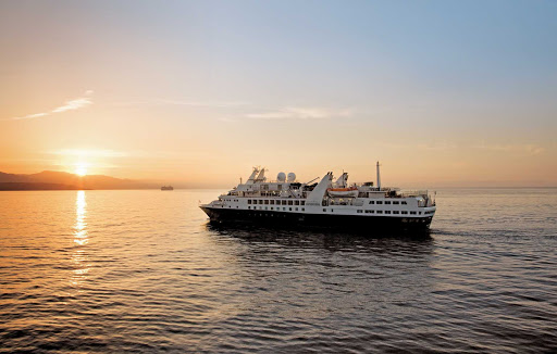 Silversea_Silver_Explorer_sunset - Set off in pursuit of tranquility aboard Silver Explorer, an all-inclusive luxury experience.