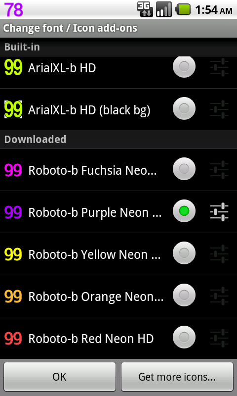 BN Pro Roboto-b Neon HD Text - screenshot