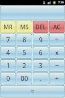 Screenshot of SimpleCalc Calculator