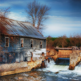 Stockdale Mill by Lisa Wessels - Landscapes Waterscapes ( water, mill, blue, waterfall, beautiful )