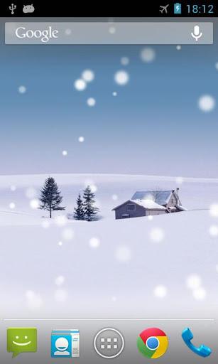 落ちる雪ライブ壁紙