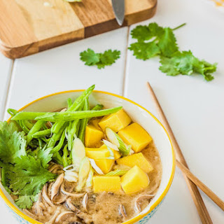 Soba Miso Soup with Chickpea Tofu